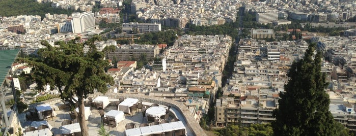 Orizontes of Lycabettus is one of athens favourite.
