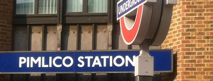 Pimlico London Underground Station is one of Tempat yang Disukai Mike.