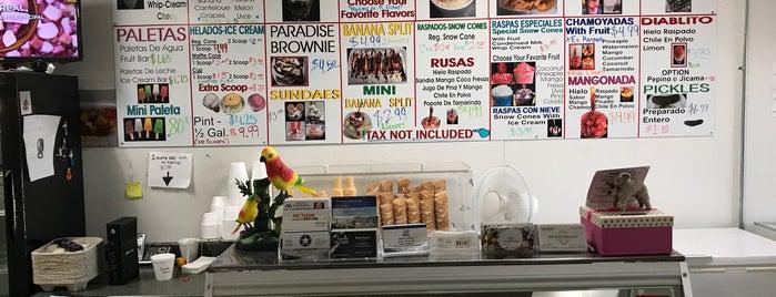 La Selva Paleteria is one of ice cream/snow cones.