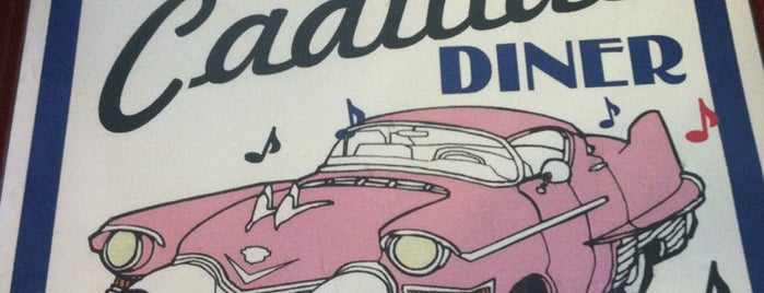 The Pink Cadillac Diner is one of Steve's Roadside Dives.