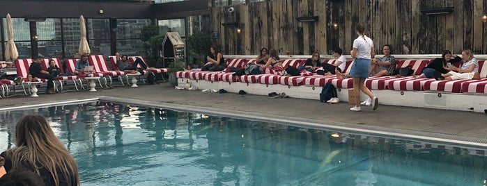 Shoreditch House Roof Pool is one of M world.