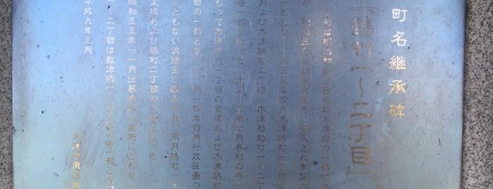 旧町名継承碑『鷗町一〜二丁目』 is one of 旧町名継承碑.