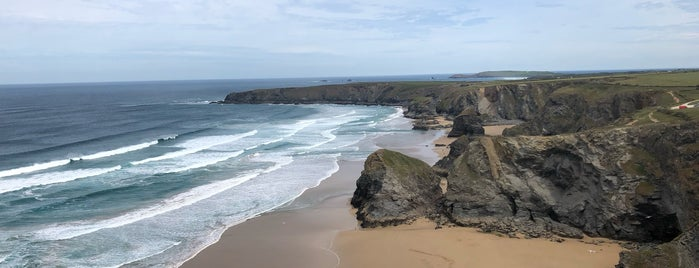 Bedruthan Steps is one of Lieux sauvegardés par Sevgi.