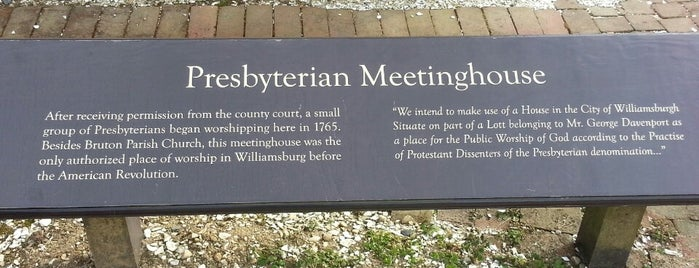 Presbyterian Meetinghouse is one of Things I plan to do in Williamsburg.