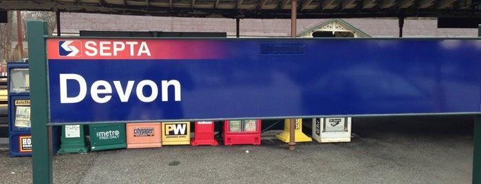 SEPTA Devon Station is one of สถานที่ที่ Dennis ถูกใจ.