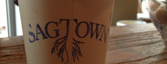 SagTown Coffee is one of Out of town.