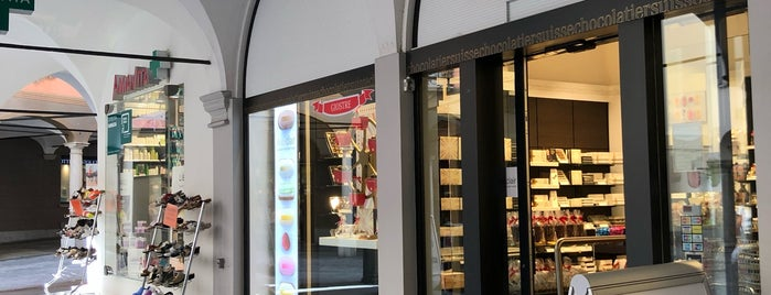 Läderach chocolatier suisse is one of Lugano.