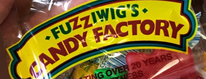 Fuzziwigs Candy Factory is one of Locais curtidos por Erik.
