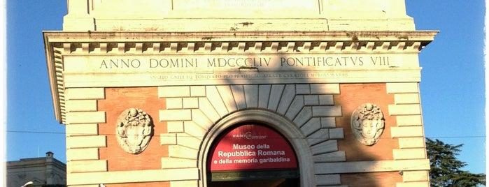 Porta San Pancrazio is one of Rome / Roma.