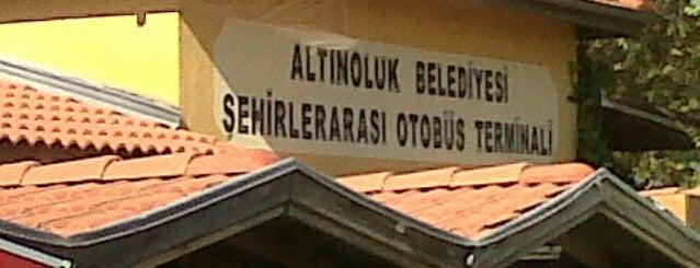 Altınoluk Şehirler Arası Otobüs Terminali is one of Gizem'in Beğendiği Mekanlar.