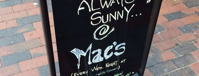Mac's Tavern is one of It's Always Sunny In Philadelphia Itinerary.