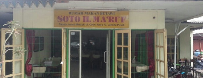 Soto Betawi H. Ma'ruf is one of Jakarta Pusat.
