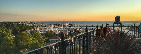 Jigger Roof Bar Wyndham Grand Kalamış Marina is one of Görkem'in Beğendiği Mekanlar.