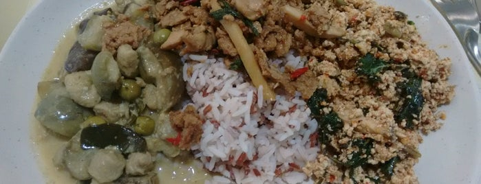 Rabiangboon Vegetarian Food MBK is one of Orte, die Albert gefallen.