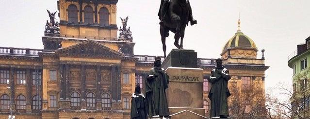 Socha svatého Václava is one of Pražské památky.