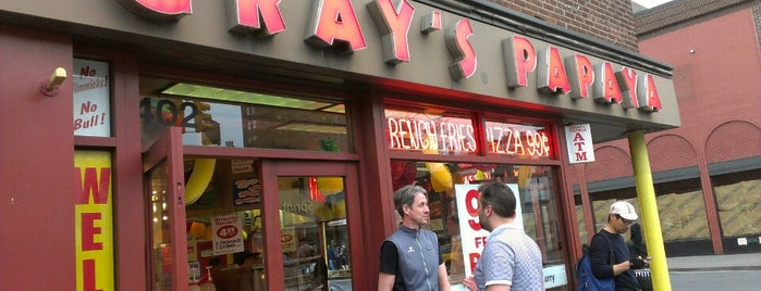 Gray's Papaya is one of lou lou in ny.
