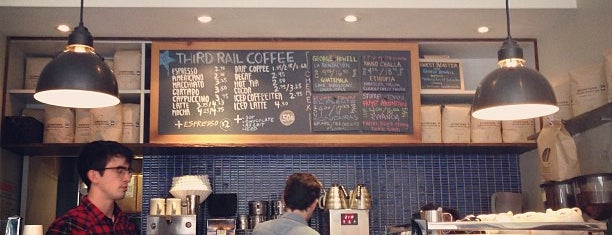 Third Rail Coffee is one of NYC  cafe / coffee lovers (esp soy milk drinkers).