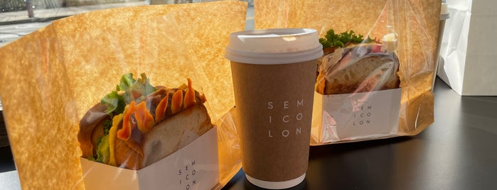 Semicolon Cafe is one of Cafes and More For Getting Work Done.