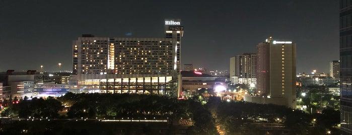 Marriott Marquis Houston is one of Houston Skywalking.