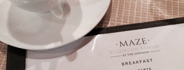 Maze Restaurant is one of Recommended Restaurants.