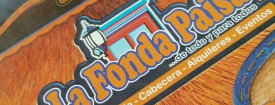 La Fonda Paisa is one of 20 favorite restaurants.