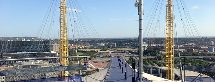 Up at the O2 is one of Greenwich and Docklands; London.