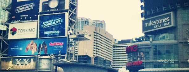 Yonge-Dundas Square is one of Toronto.