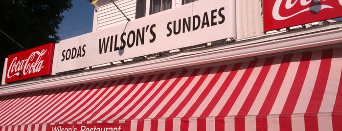 Wilson's Restaurant & Ice Cream Parlor is one of Where in the World (to Dine, Part 4).