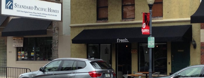 fresh. Cafe is one of Orlando/Winter Park.