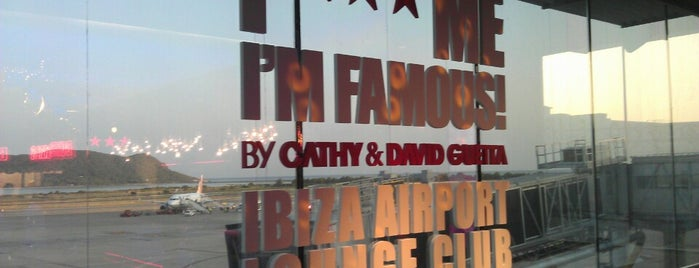 """F*** ME I'M FAMOUS"" Ibiza Airport Lounge is one of Tempat yang Disukai Ian."