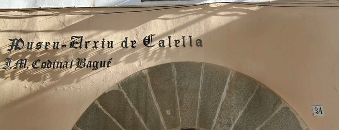 Museu Arxiu Calella is one of Calella Renaixentista / Renacentista / Renaissance.