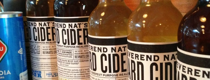 Reverend Nat's Hard Cider is one of Portland.