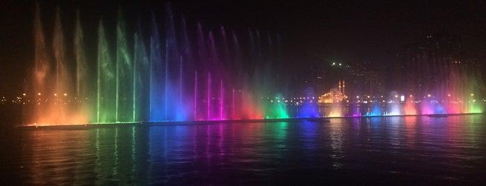 Sharjah Rainbow Fountain is one of Dubai & the gulf.
