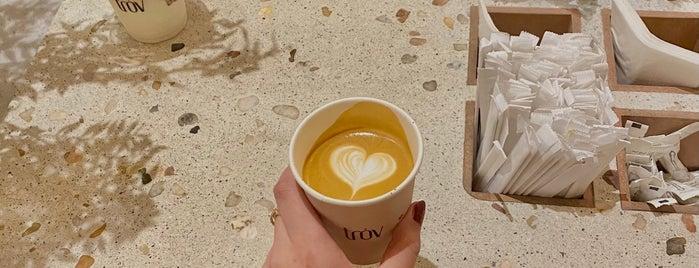 trov is one of Coffee shops   Riyadh ☕️🖤.