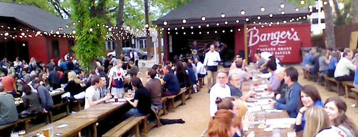 Banger's Sausage House & Beer Garden is one of Craft Beer Bars on Rainey Street in Austin, TX.