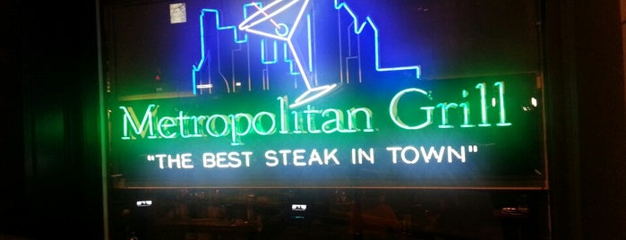 Metropolitan Grill is one of American.