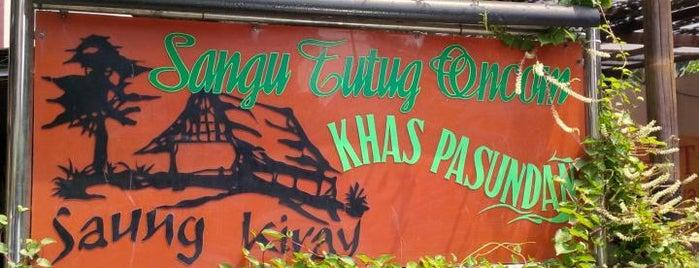 Saung Kiray Sangu Tutug Oncom is one of Iyanさんのお気に入りスポット.