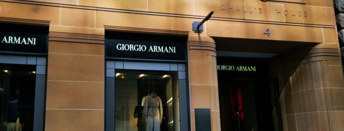 Giorgio Armani is one of Sydney.