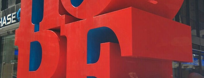 HOPE Sculpture by Robert Indiana is one of New York.