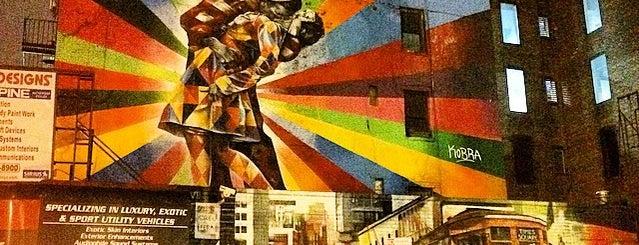 """V-J Day Kiss"" Mural by Eduardo Kobra is one of Gone But Not Forgotten...."