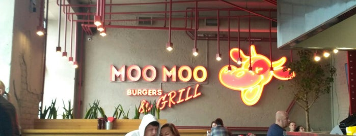 Moo Moo Burger&Grill is one of Поесть в СПб.