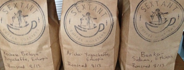 Sextant Coffee Roasters is one of SF 3rd Wave Coffee.