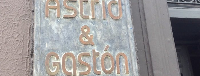 Astrid y Gastón is one of the world's best restaurants.