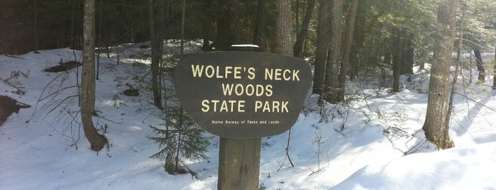 Wolfe's Neck Woods State Park is one of Maine.