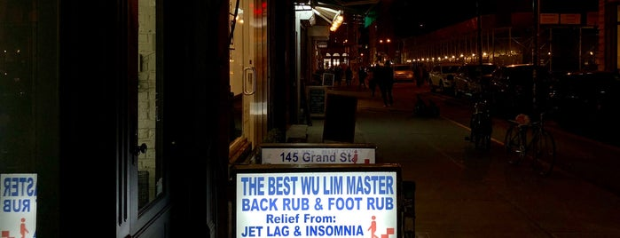Wu Lim Back & Foot Rub is one of NY- not food.
