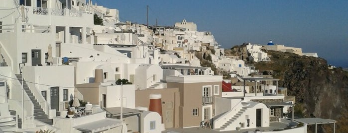 Imerovigli is one of Santorini + Mykonos.