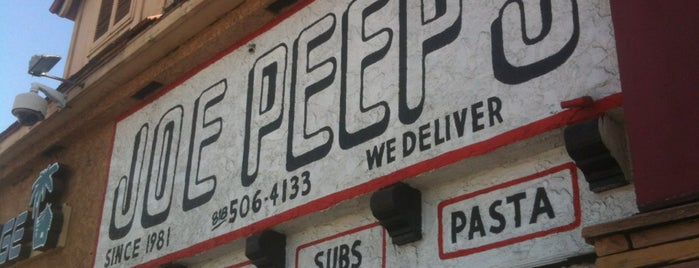 Joe Peep's Pizza is one of california dreaming.