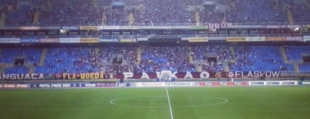 Estádio Olímpico Nilton Santos is one of Aqui na terra tão jogando futebol.