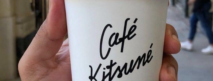 Café Kitsuné is one of Cafés EU.