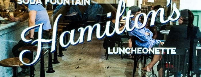 Hamilton's Soda Fountain & Luncheonette is one of Lieux sauvegardés par LadyOlivia.